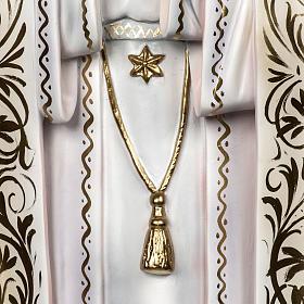 Madonna di Fatima 120 cm pastorelli pasta di legno dec. elegante s4