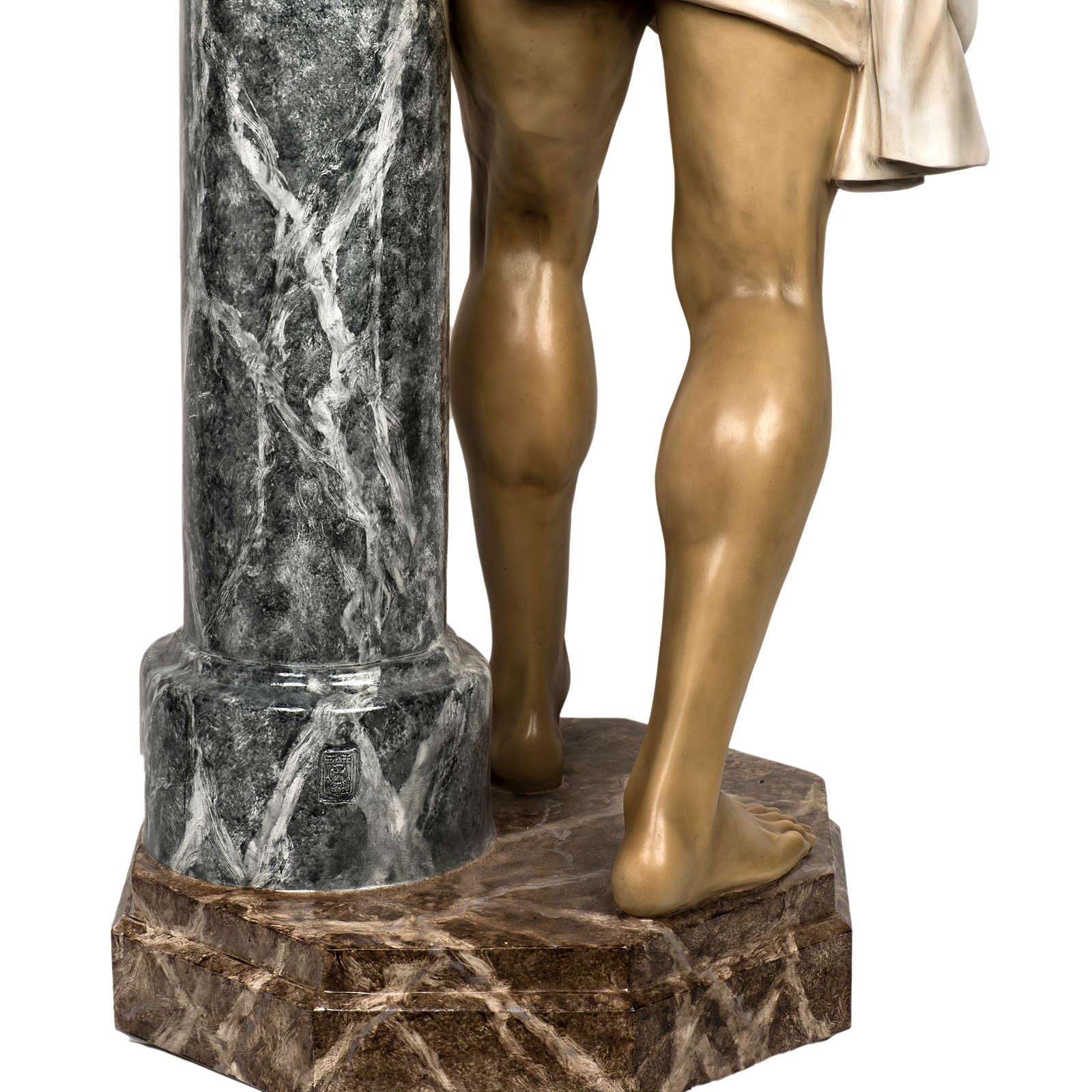 Christ flagellé 180 cm en pâte à bois 4