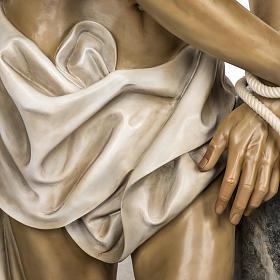 Christ flagellé 180 cm en pâte à bois s5