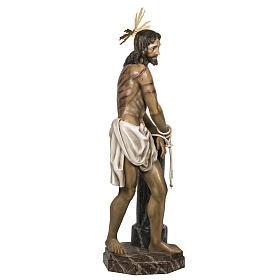 Christ flagellé 180 cm en pâte à bois s7