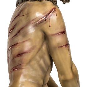 Christ flagellé 180 cm en pâte à bois s9