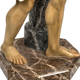 Christ flagellé 180 cm en pâte à bois s10