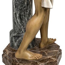 Christ flagellé 180 cm en pâte à bois s14