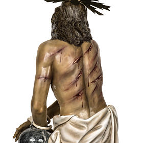 Christ flagellé 180 cm en pâte à bois s17