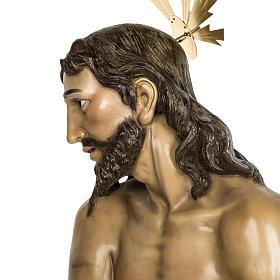 Christ flagellé 180 cm en pâte à bois s20