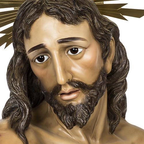 Christ flagellé 180 cm en pâte à bois 2