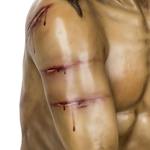 Christ flagellé 180 cm en pâte à bois 3