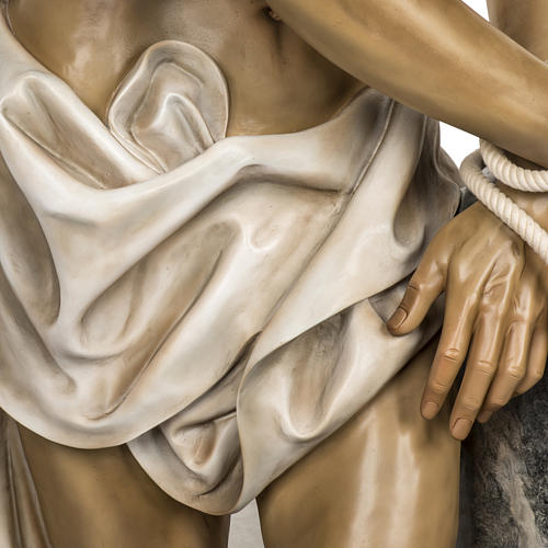Christ flagellé 180 cm en pâte à bois 5