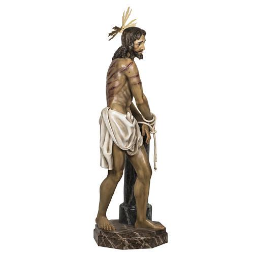 Christ flagellé 180 cm en pâte à bois 7