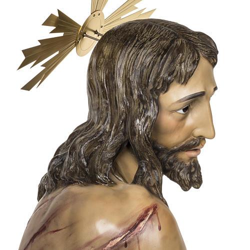 Christ flagellé 180 cm en pâte à bois 8