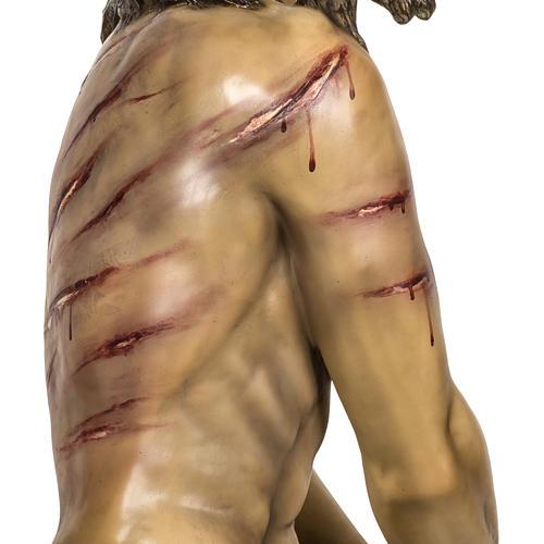 Christ flagellé 180 cm en pâte à bois 9