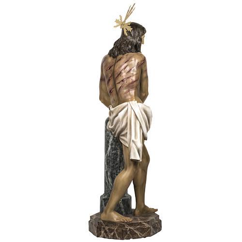 Christ flagellé 180 cm en pâte à bois 11