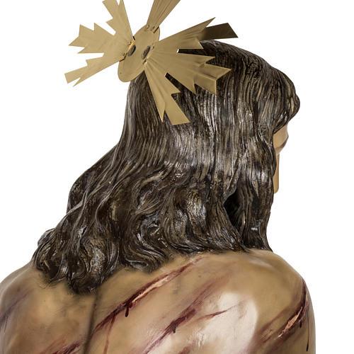 Christ flagellé 180 cm en pâte à bois 12
