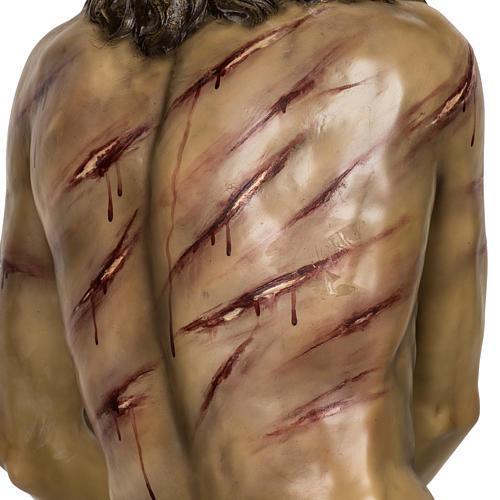 Christ flagellé 180 cm en pâte à bois 13