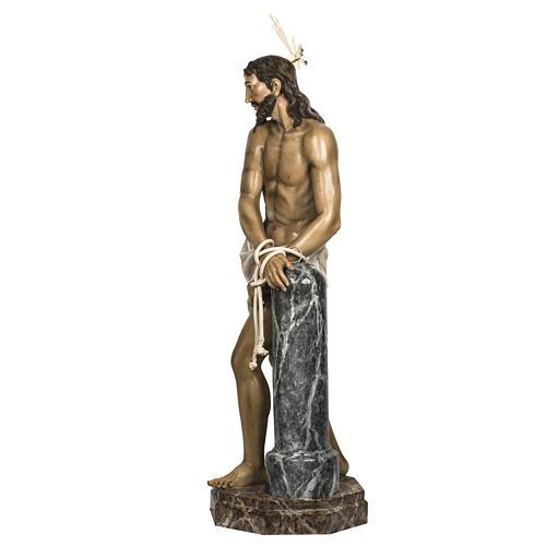 Christ flagellé 180 cm en pâte à bois 19