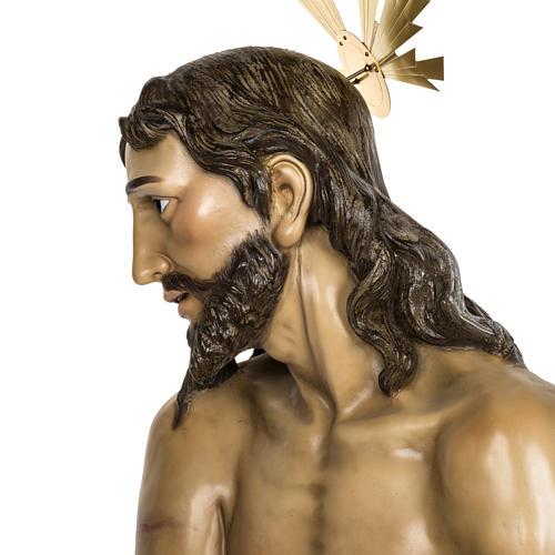 Christ flagellé 180 cm en pâte à bois 20