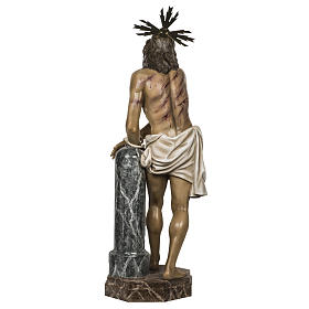 Christ at the Column 180cm in wood paste, antique decoration s16