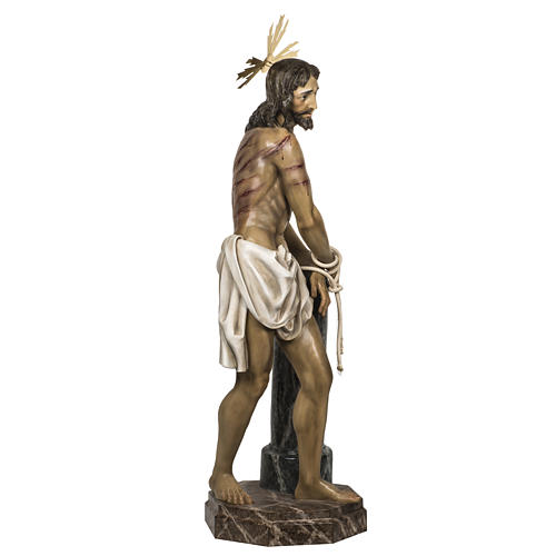 Christ at the Column 180cm in wood paste, antique decoration 7