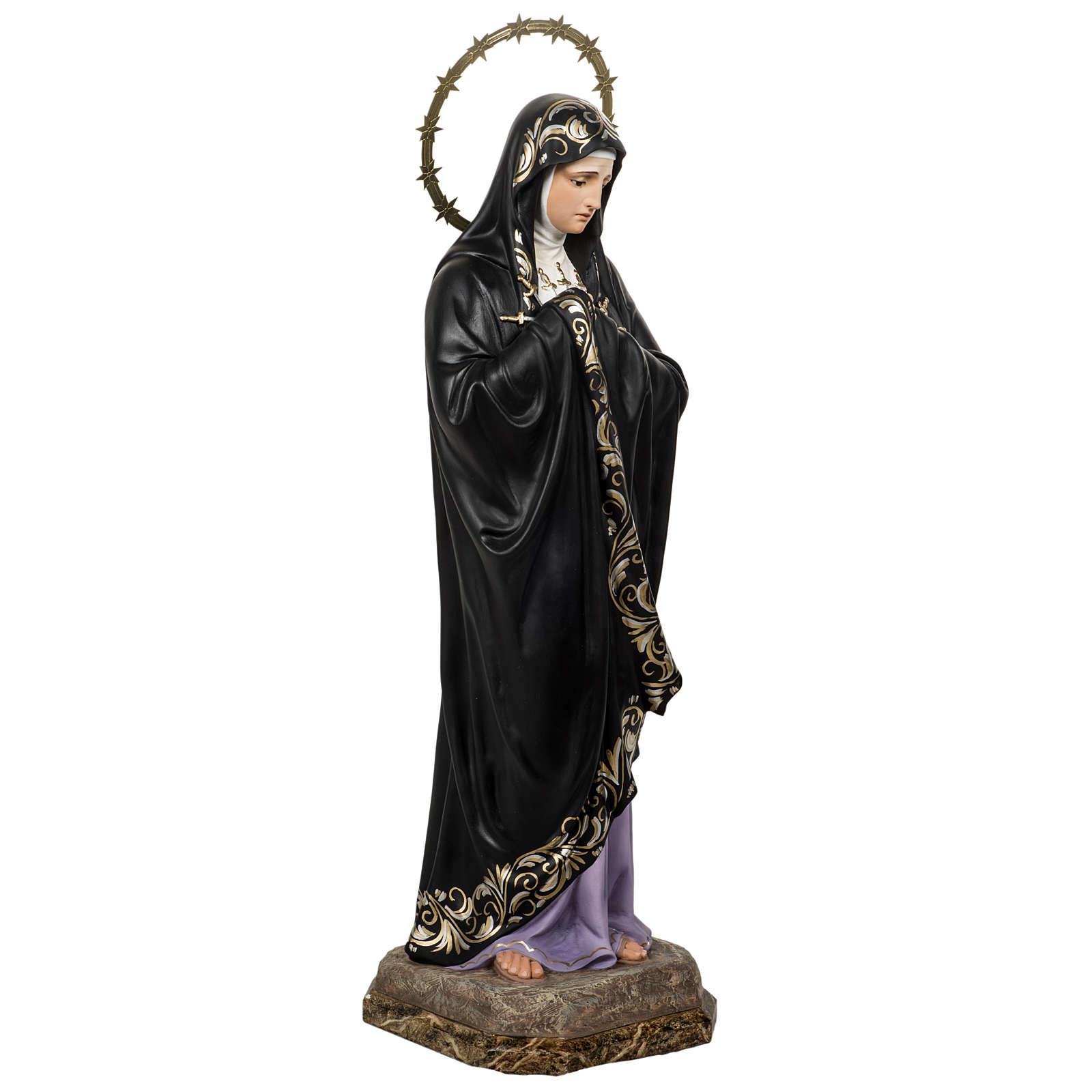 Our Lady of Sorrows, Soledad, 80cm in wood paste, elegant decora 4