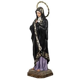 Our Lady of Sorrows, Soledad, 80cm in wood paste, elegant decora s7