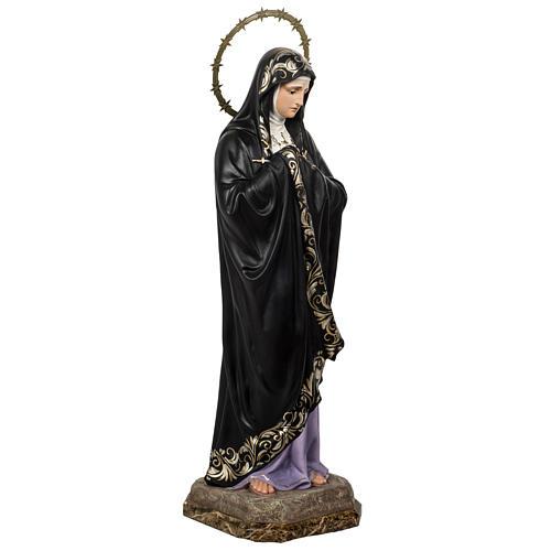 Our Lady of Sorrows, Soledad, 80cm in wood paste, elegant decora 5