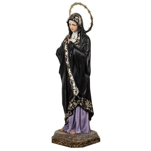 Our Lady of Sorrows, Soledad, 80cm in wood paste, elegant decora 7