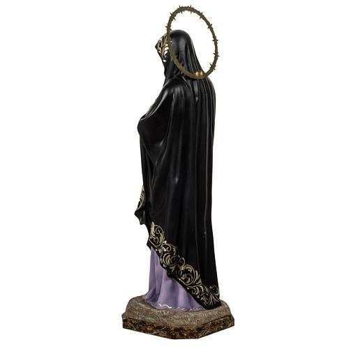 Our Lady of Sorrows, Soledad, 80cm in wood paste, elegant decora 10