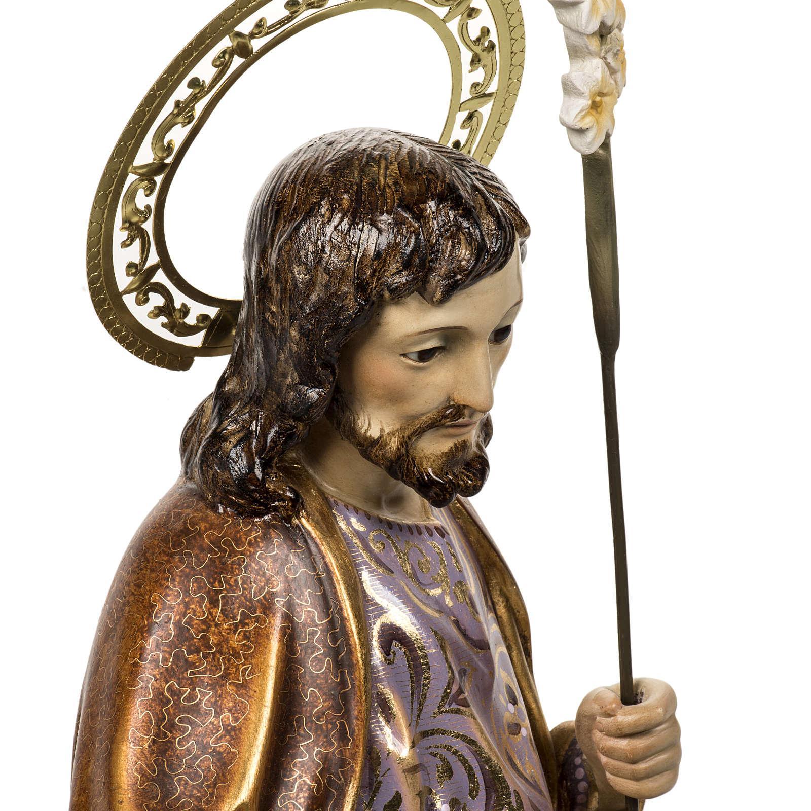 San Giuseppe con bimbo 60 cm pasta di legno finitura extra 4