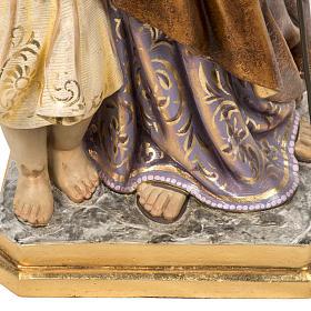 San Giuseppe con bimbo 60 cm pasta di legno finitura extra s4