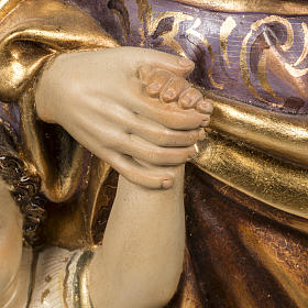 San Giuseppe con bimbo 60 cm pasta di legno finitura extra s5