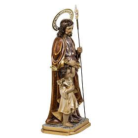 San Giuseppe con bimbo 60 cm pasta di legno finitura extra s6