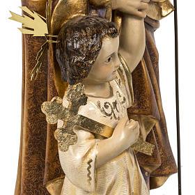 San Giuseppe con bimbo 60 cm pasta di legno finitura extra s8