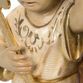 San Giuseppe con bimbo 60 cm pasta di legno finitura extra s12