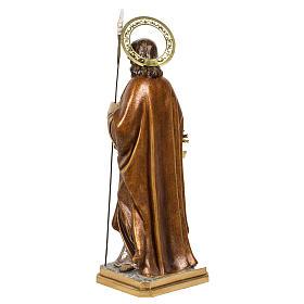 San Giuseppe con bimbo 60 cm pasta di legno finitura extra s13