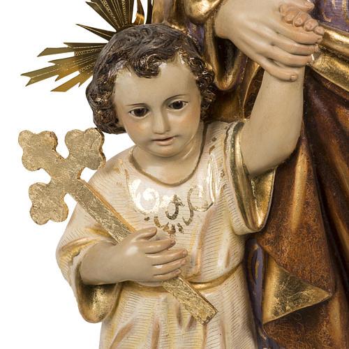 San Giuseppe con bimbo 60 cm pasta di legno finitura extra 3