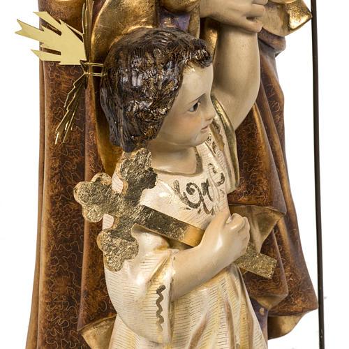 San Giuseppe con bimbo 60 cm pasta di legno finitura extra 8