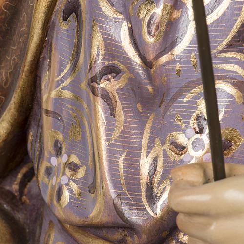 San Giuseppe con bimbo 60 cm pasta di legno finitura extra 11