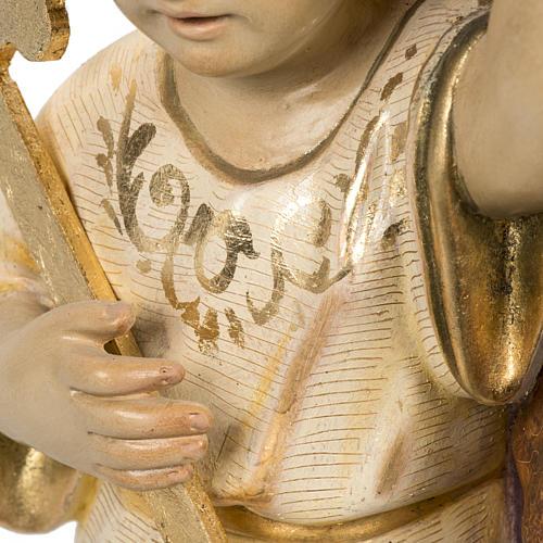 San Giuseppe con bimbo 60 cm pasta di legno finitura extra 12