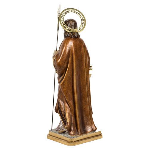 San Giuseppe con bimbo 60 cm pasta di legno finitura extra 13