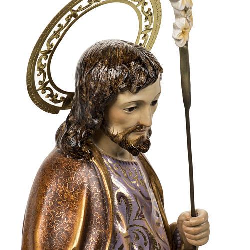 Saint Joseph statue 60cm in wood paste, extra finish 7