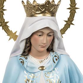 Statua Madonna Miracolosa 60 cm pasta di legno dec. elegante