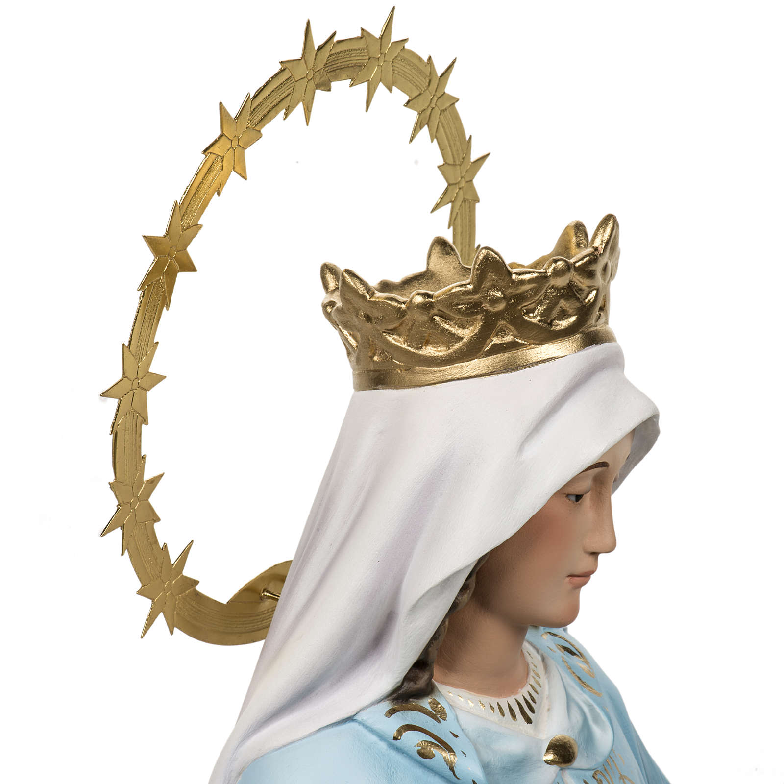 Miraculous Madonna statue 60cm in wood paste, elegant decoration 4