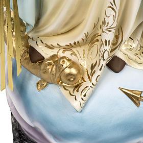 Miraculous Madonna statue 60cm in wood paste, elegant decoration s4