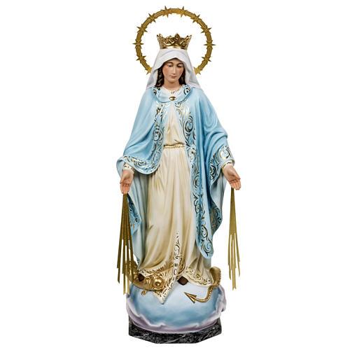 Miraculous Madonna statue 60cm in wood paste, elegant decoration 1