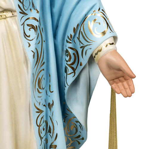 Miraculous Madonna statue 60cm in wood paste, elegant decoration 3