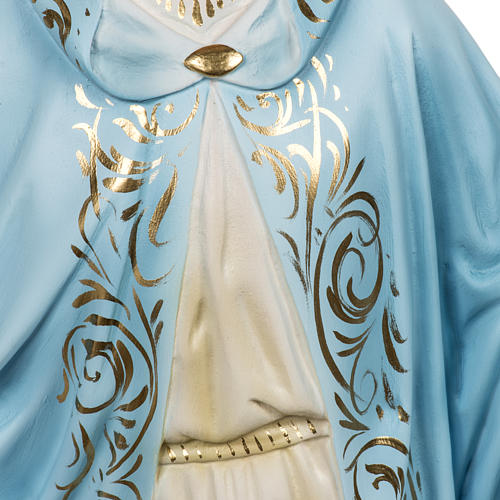 Miraculous Madonna statue 60cm in wood paste, elegant decoration 5