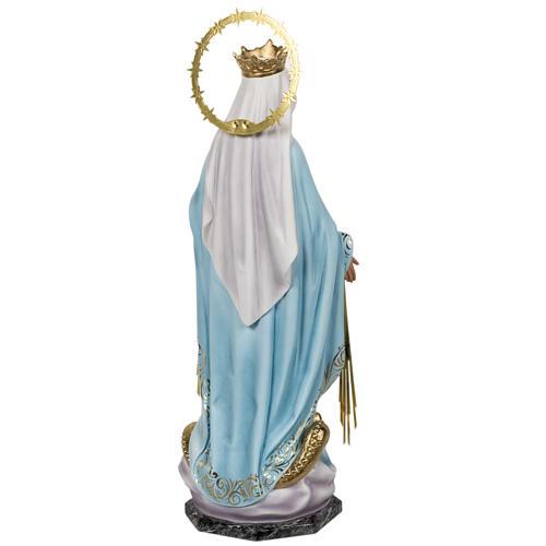 Miraculous Madonna statue 60cm in wood paste, elegant decoration 9
