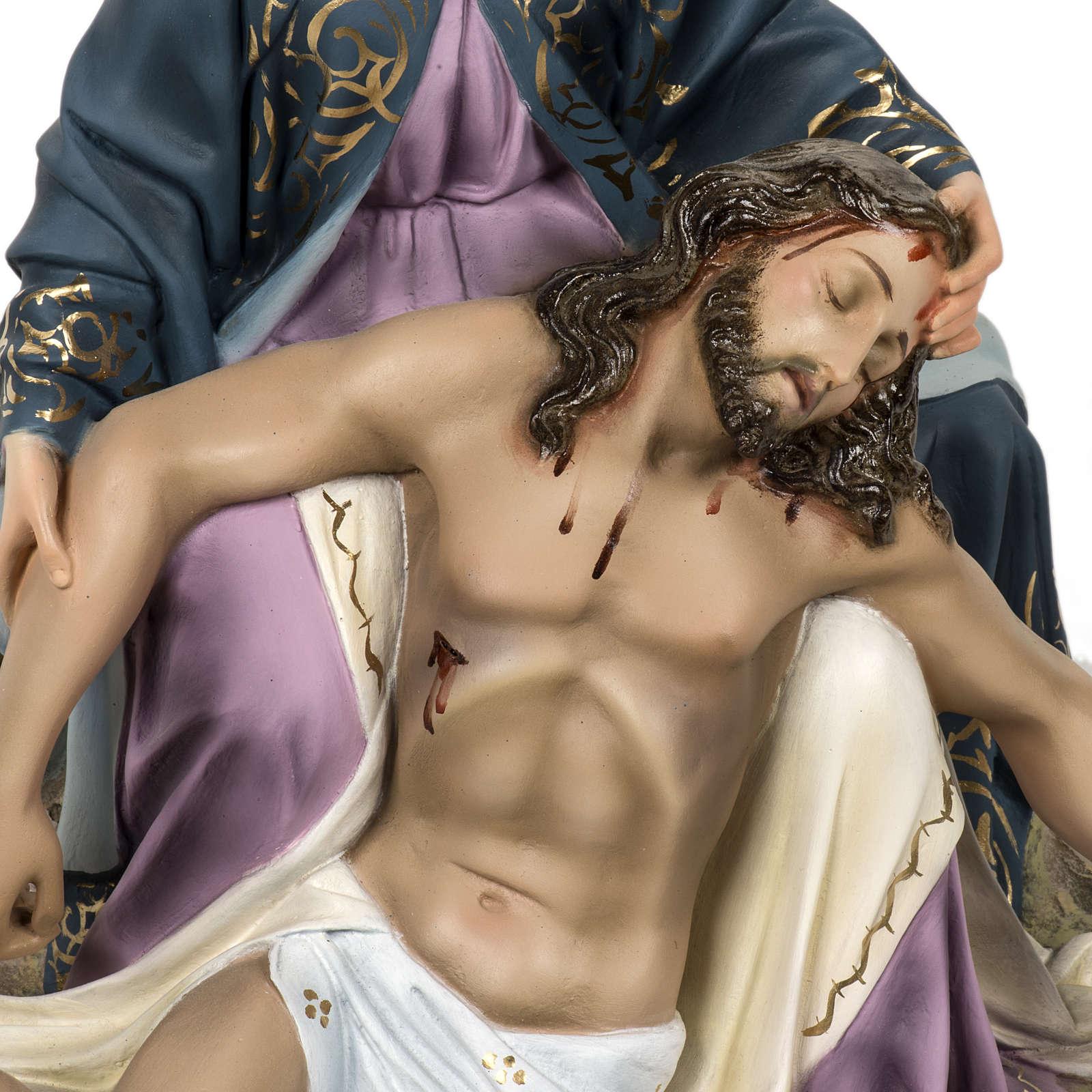 Pietà 50 cm pasta di legno dec. elegante 4