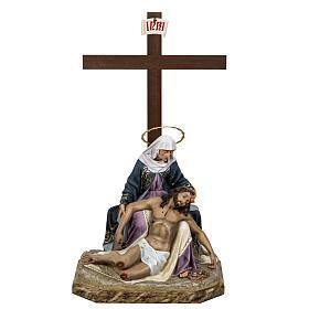 Pietà 50 cm pasta di legno dec. elegante s1