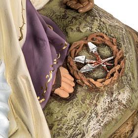 Pietà 50 cm pasta di legno dec. elegante s9
